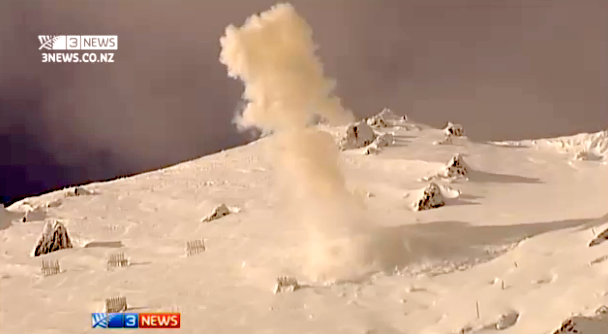 Heli bombing at Mt. Hutt yesterday