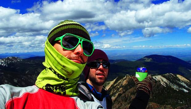 Summit Beer skiing mt. blackmore