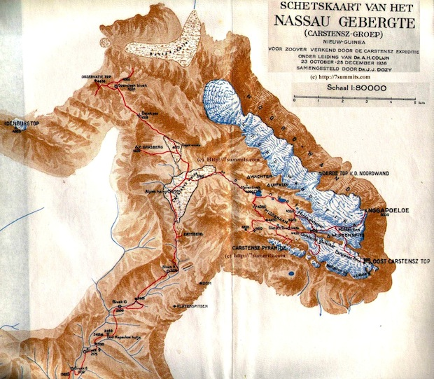 Maoke Mountain Glacier map