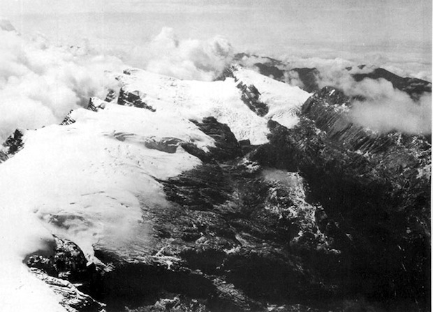 Maoke Mountain glaciers where the ski resort existed or exists...