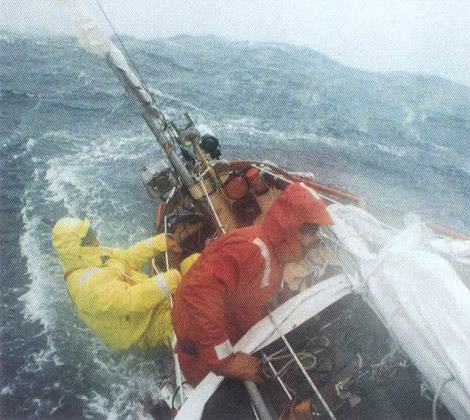 Ned Gilette sailing