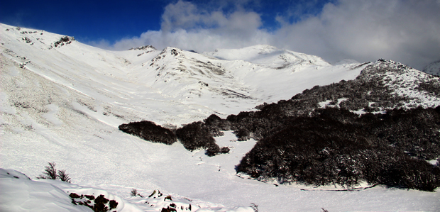 South America Snowy mountains