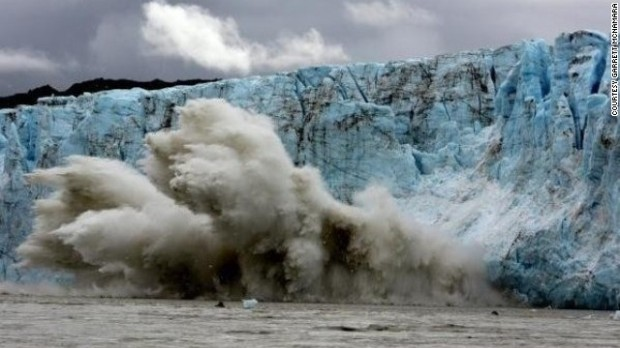 Glacier surfing Garrett McNamara