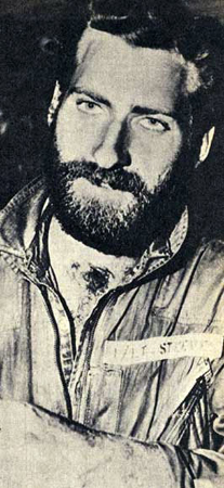 A Bearded Lieutenant Steeves after his plance crash