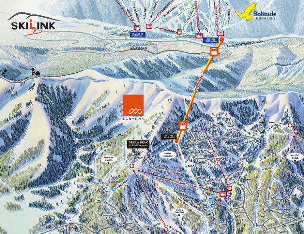 Ski Link would connect The Canyons to Solitude in an 11 minute gondola ride