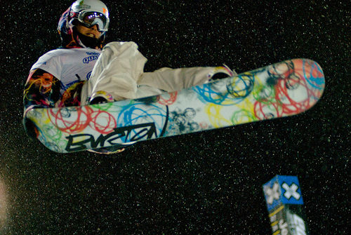 Kevin Pearce back on his snowboard