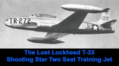 The T-33 prototype plate Lt. Steeves was flying