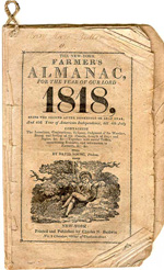 First ever Farmers Almanac in 1818.