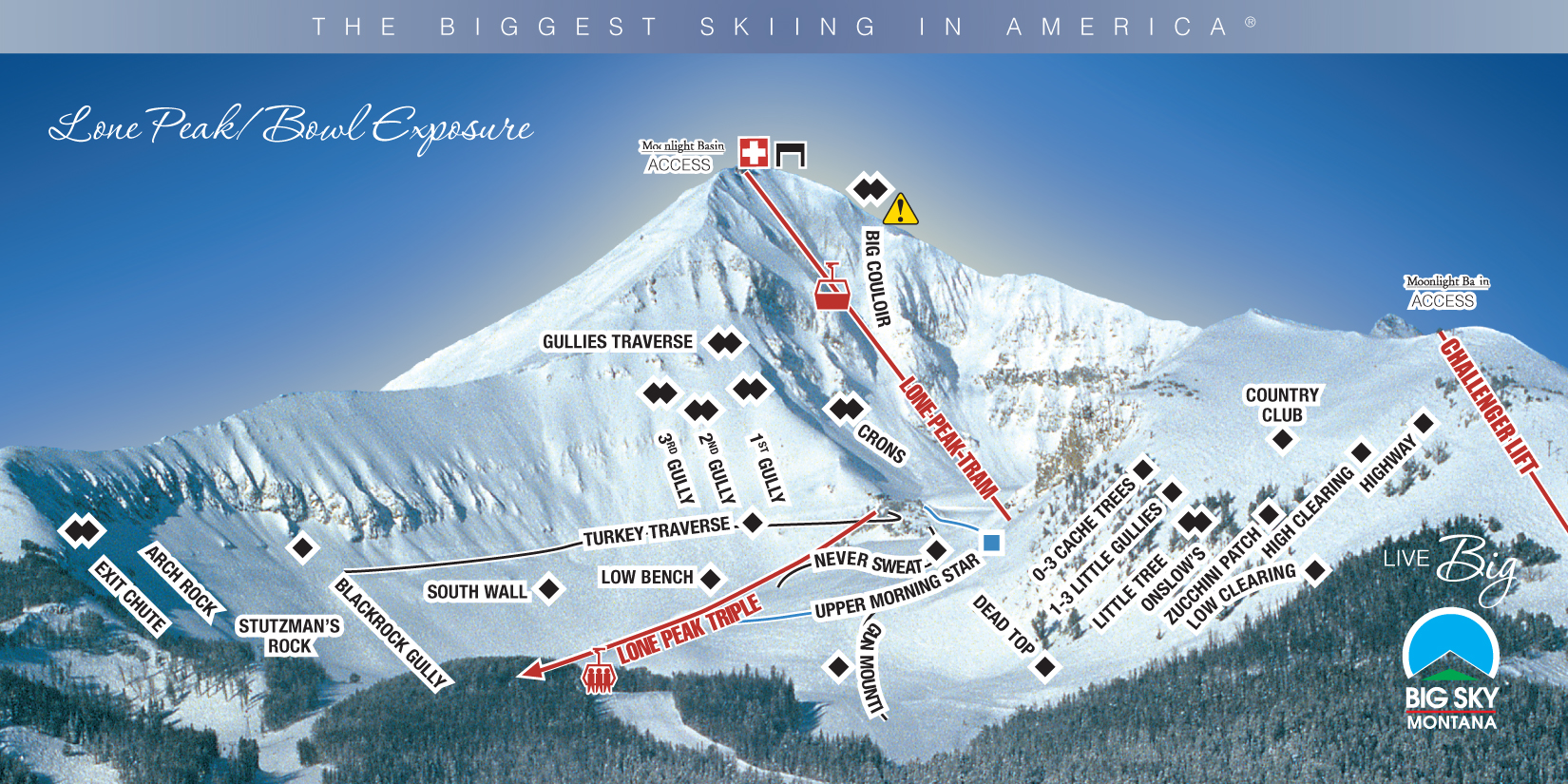 Big Sky Mt Moonlight Basin Mt Combine To Form Largest Ski Resort