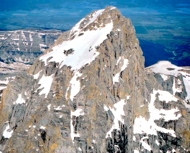 The hanging snowfield above the Otterbody on the Grand Teton, Wyoming.