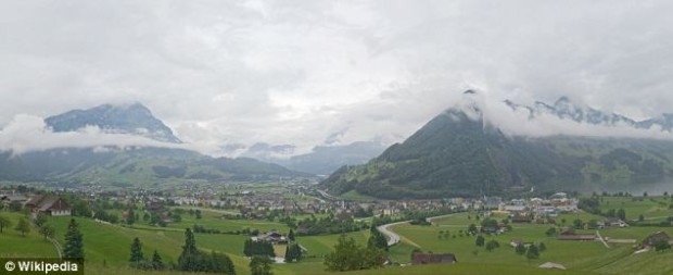 The alps in the area of the accident
