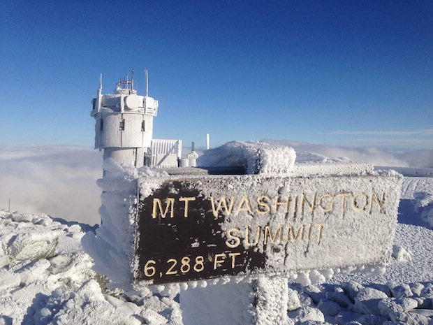 Mt. Washington, New Hamphire new snow.