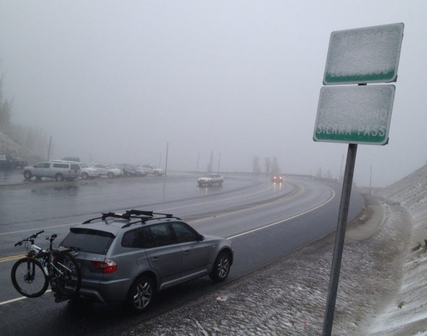 Mt. Rose Highway Summit today.  photo:  Jim S.