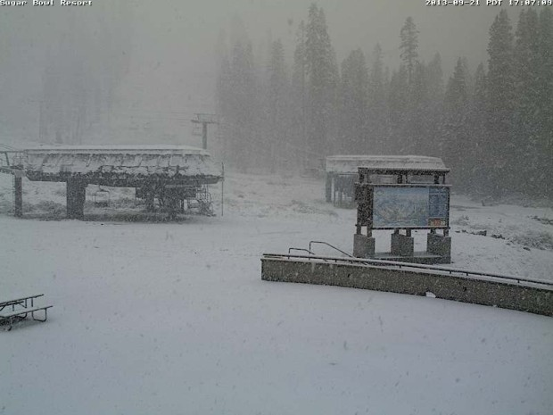 Sugar Bowl ski resort at 4:22pm PST, September 21st, 2013.