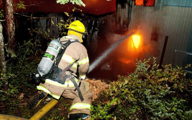 Fire crews battled the blaze until 5:30am.  Photo - Piquenewsmagazine.com