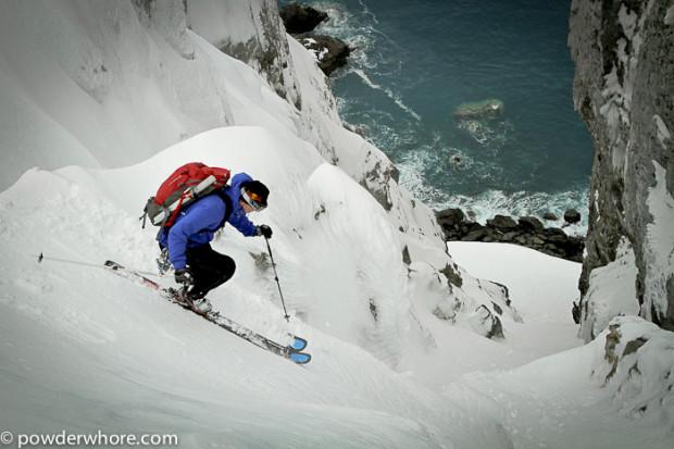 Skiing in antarctica.  image:  powderwhore
