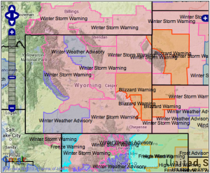 """Warnings TODAY for Wyoming, Colorado, Montana   6-18"""" of New Snow"""