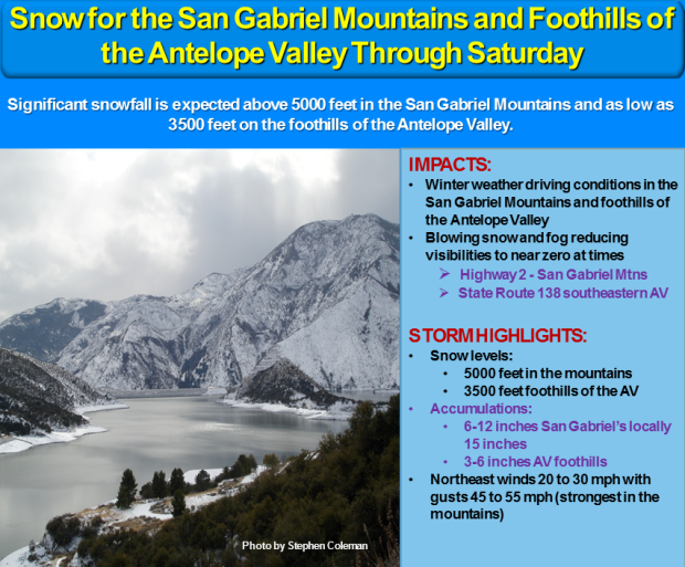 Southern California Mountains storm update