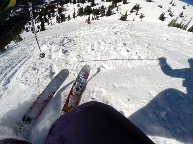 Ripping some chopped pow in the afternoon
