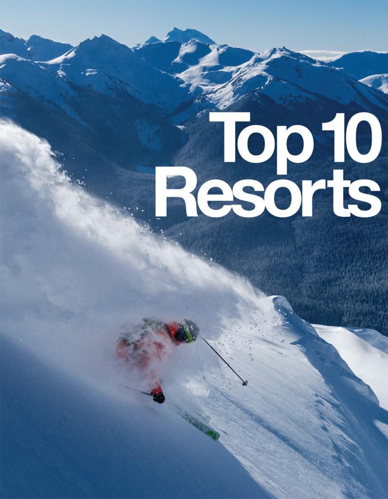 top 10 ski resorts in north america by freeskier magazine - snowbrains