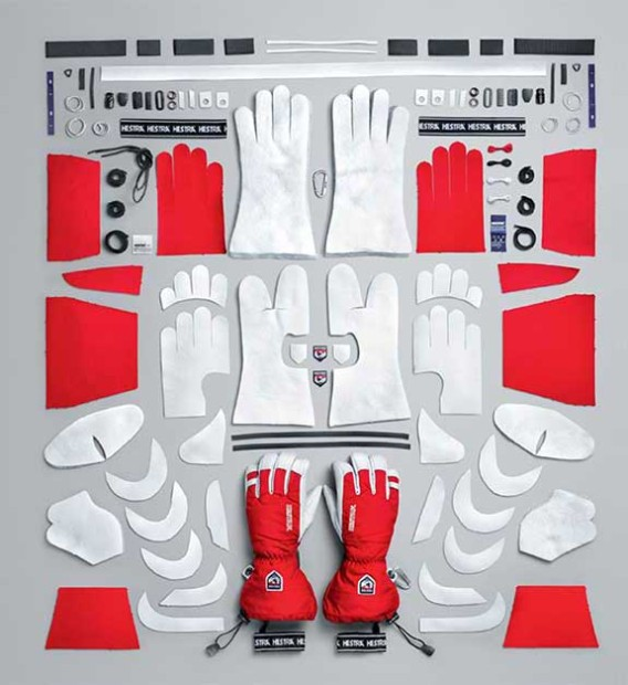 Hestra Heli glove dissected.