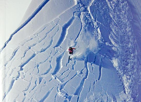 Skier in avalanche.