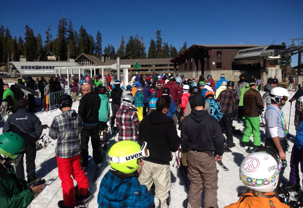 Mammoth 60th anniversary opening weekend lines