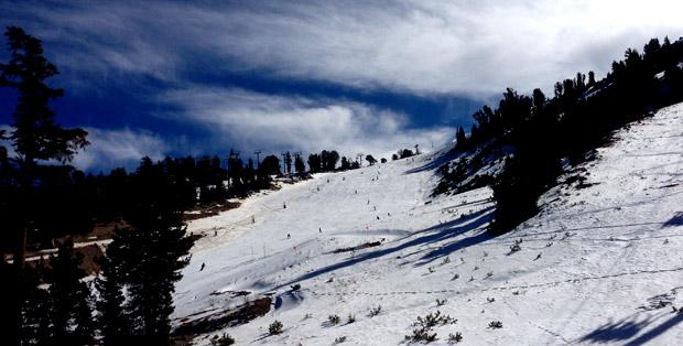 Mammoth 60th anniversary ski crowds