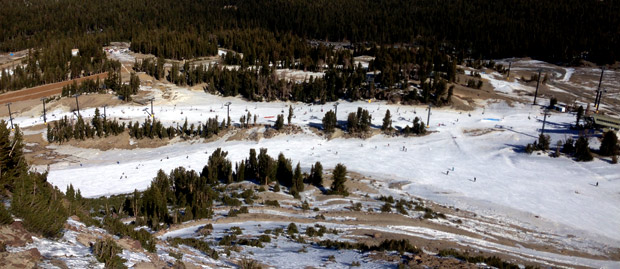 A look down at Broadway and the Unbound Terrain Park