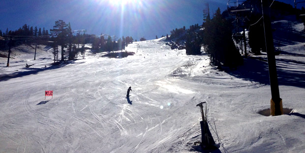 The main run off Chair 1 was as good as man made gets.