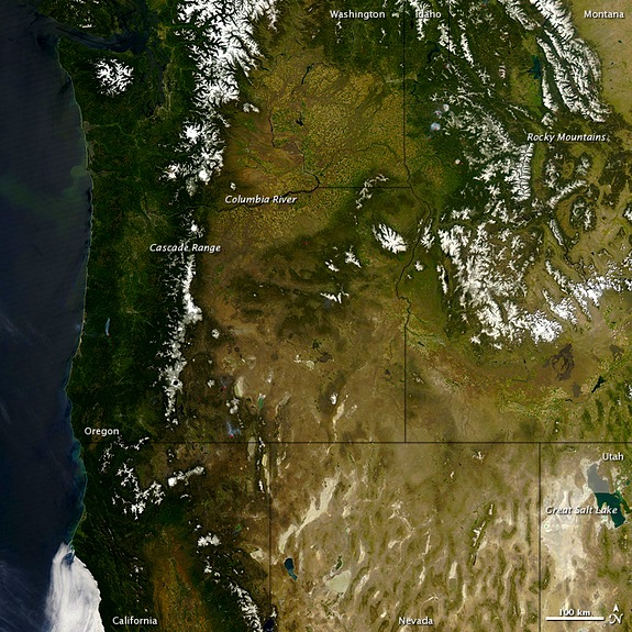 The Pacific Northwest from Space. photo: NASA