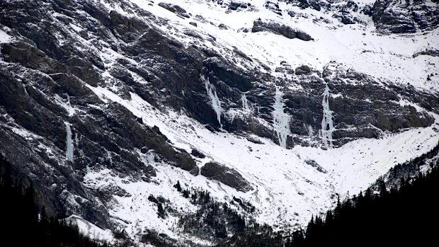 Ranger Creek ice climbs.