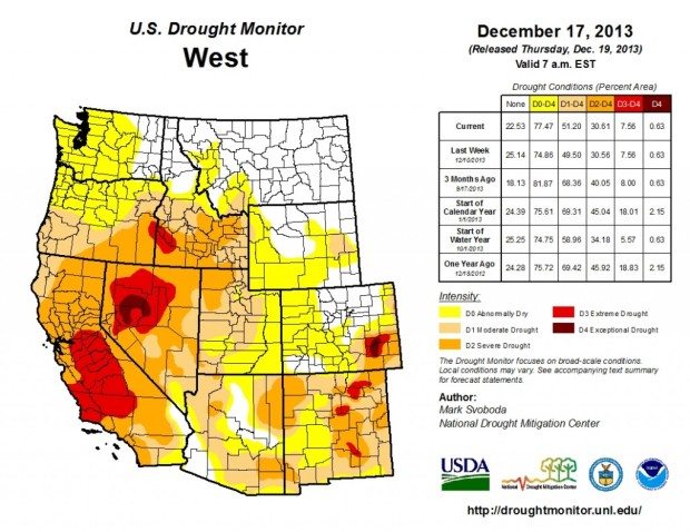 california's driest year