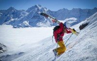 K2 athlete McKenna Peterson in Murren