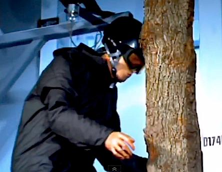 ski dummy crash