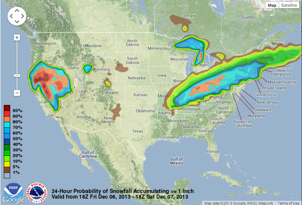 Snowfall probability