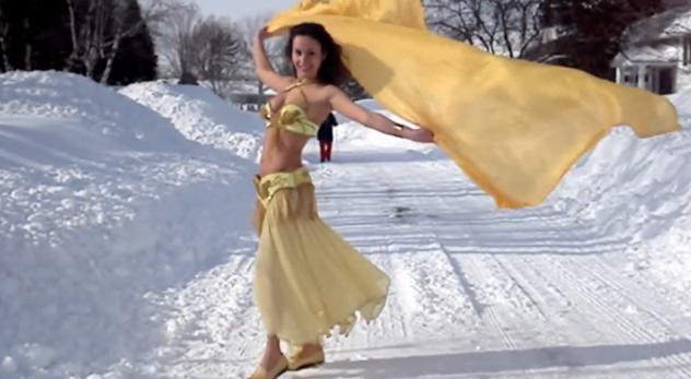 Michaela Comen snow dance