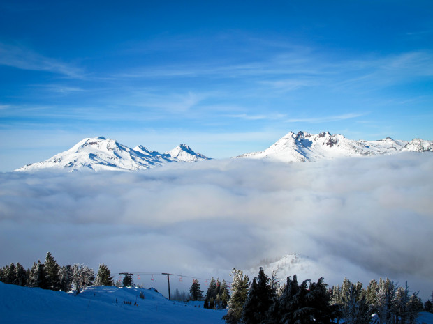 The view from Mt. Bachelor, OR.