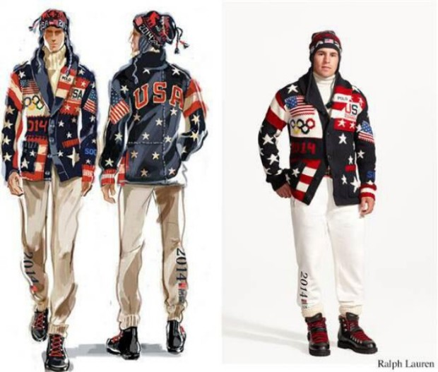 USA uniforms for 2014 sochi olympics.