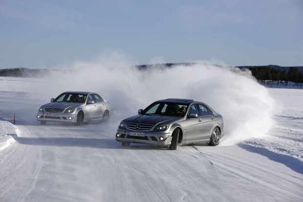 Snow drifting.