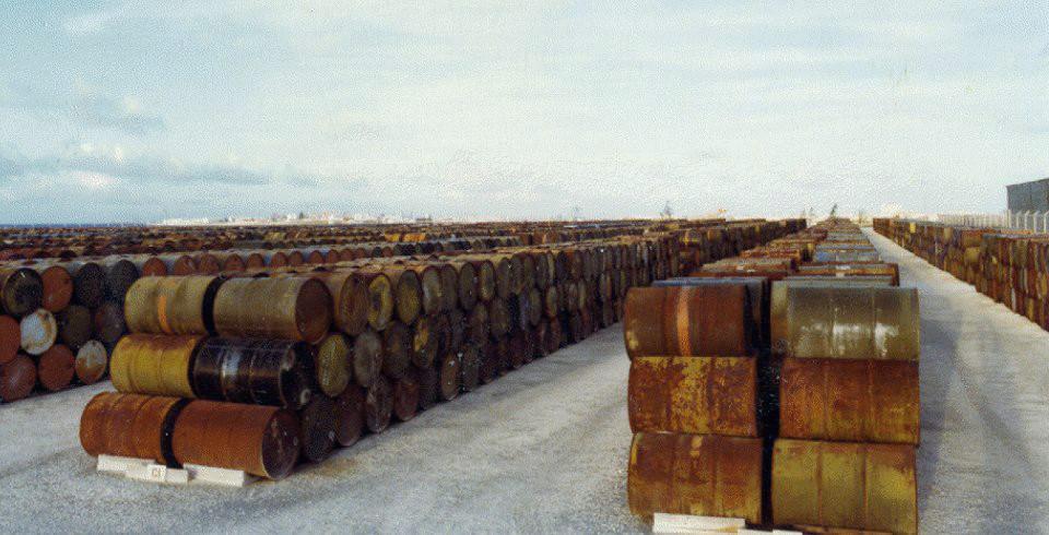 Atoll barrels of Agent Orange