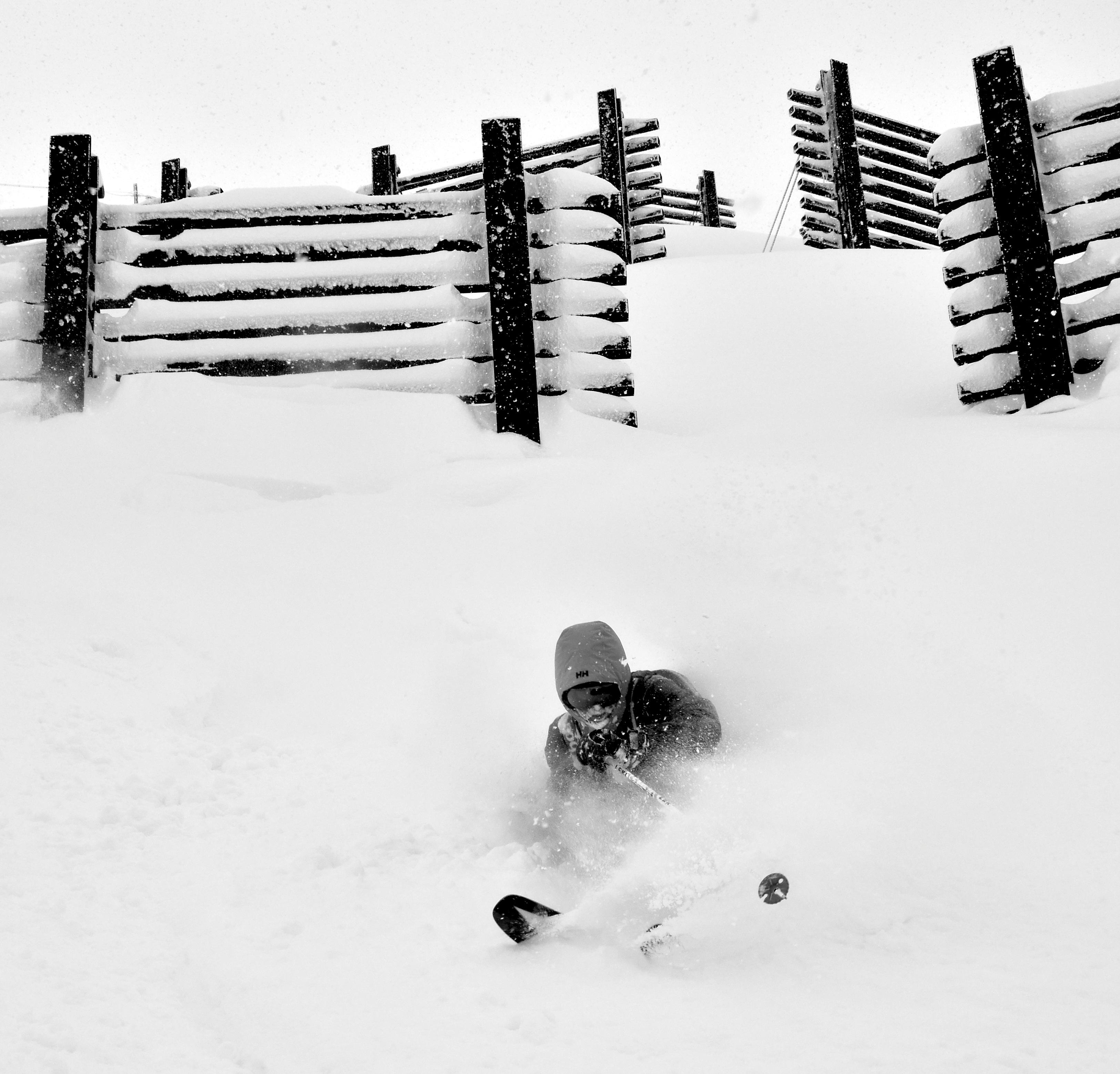 avy fence skiing