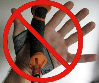 don't wear ski poles