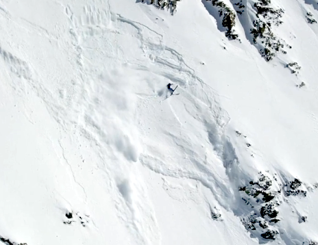 Chris Davenport in an avalanche