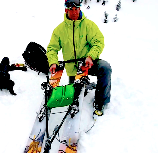 sled rescue skis
