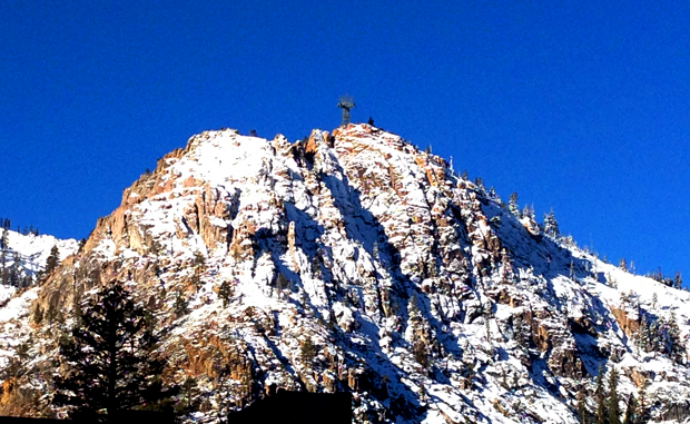 Squaw Tram Face with dusting of snow