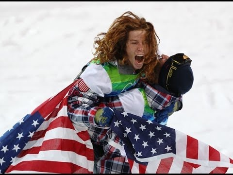 Shaun White in happier times after a Gold medal in halfpipe in Vancouver.