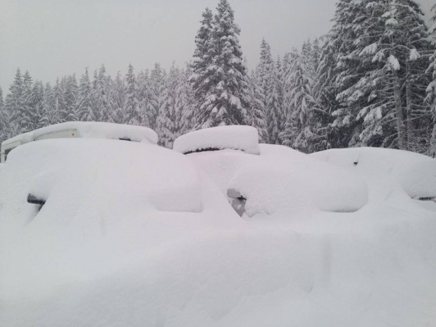 Feb. 17th, 2014.  Crystal Mountain, WA.  Power was out for a day during this part of the storm.
