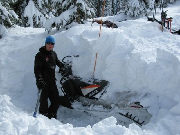 Avalanche victim's sled.  photo:  utah avalanche center