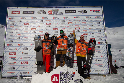 Sammy and Ralphy on the podium yesterday.